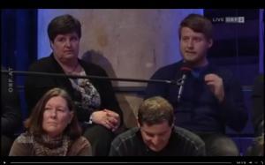 Markovics als legitimer Gesprächsgast im ORF-Bürgerforum (Screenshot)